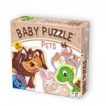 Dtoys-71255-BP-0 4 Puzzles - Tierbabies