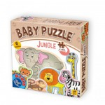 Dtoys-71286 6 Puzzles - Dschungelbabies