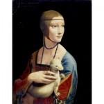 Puzzle  Dtoys-72689-DA-02 Leonardo da Vinci: Dame mit dem Hermelin