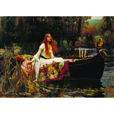 Puzzle Dtoys-72757-WA-01 Waterhouse John William: The Lady of Shalott