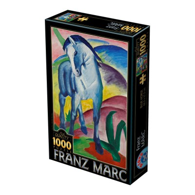 Puzzle Dtoys-72856-MA-02 Marc Franz: Blaues Pferd I