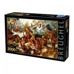 Puzzle  Dtoys-72900-BR-02 Brueghel Pieter: Der Sturz der rebellierenden Engel, 1562