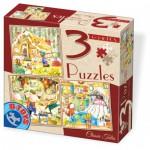 Dtoys-72924-EM-01 3 puzzles - Märchen