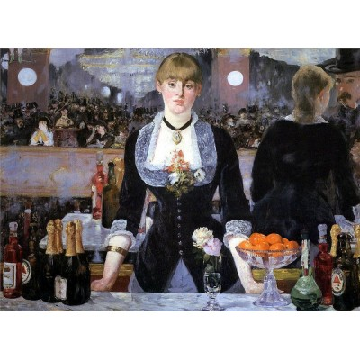 Puzzle Dtoys-73068-MA-01 Manet Édouard: A Bar at the Folies Bergère, 1882