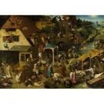 Puzzle  Dtoys-73778-BR01 Brueghel Pieter - Flämische Sprichwörter