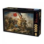 Puzzle  Dtoys-73808-DE01 Eugène Delacroix: Die Freiheit führt das Volk