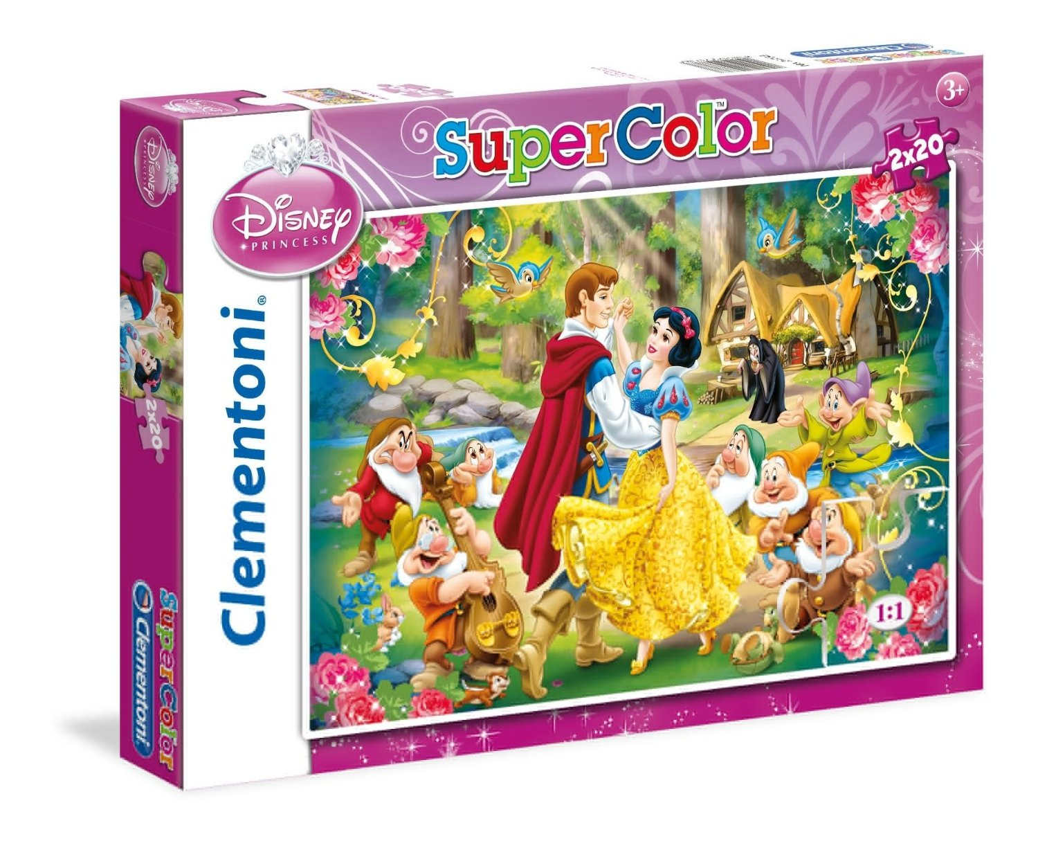 2 puzzles disney princess 20 teile clementoni puzzle. Black Bedroom Furniture Sets. Home Design Ideas