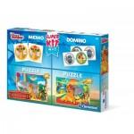 2 Puzzles Lion Guard + Memo + Domino