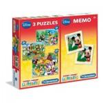 3 Puzzles + Memo - Mickey