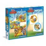 3 Puzzles + Memo - The Lion Guard