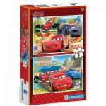 Clementoni-07005 2 Puzzles - Cars