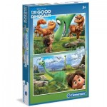 Clementoni-07022 2 Puzzles - The Good Dinosaur