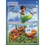 Clementoni-07125 2 Puzzles - The Good Dinosaur