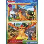 Clementoni-07126 2 Puzzles - The Lion Guard