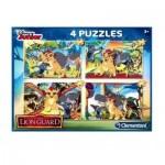 Clementoni-07608 4 Puzzles - The Lion Guard