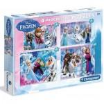 Clementoni-07709 4 Progressive Puzzles - Frozen