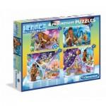 Clementoni-07713 4 Progressive Puzzles - Ice Age