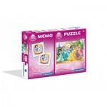 Puzzle  Clementoni-07906 Disney Princess + Memo