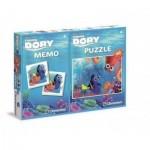 Clementoni-07913 Puzzle Nemo + Memo