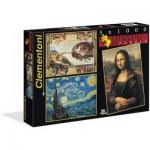 Clementoni-08006 3 Puzzles - Museum Collection