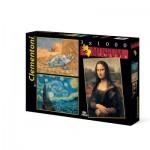 Clementoni-08008 3 Puzzles - Museum