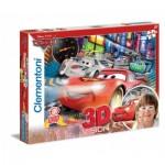 Puzzle  Clementoni-20044 3D Effekt - Cars 2: Porto Corsa