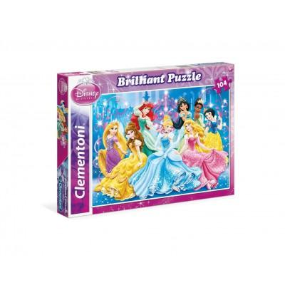 Puzzle Clementoni-20128 Princess, Brilliant