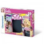 Clementoni-20231 Message-Puzzle Barbie mit Kreide