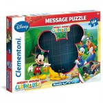 Clementoni-20232 Message-Puzzle Mickey Mouse Club Haus