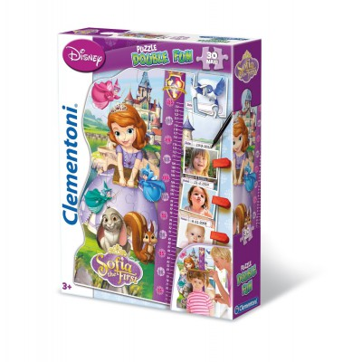 Clementoni-20308 Puzzle Double Fun - Sofia the First