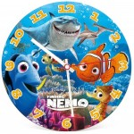 Clementoni-23022 Fluo Puzzleuhr - Nemo und Dory