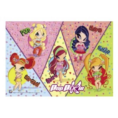 Clementoni-23614 Puzzle Happy Color Maxi 30 teilig Pop Pixies - Sweet Pixies
