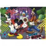 Puzzle  Clementoni-23637 Mickey und seine Freunde als Rockstars
