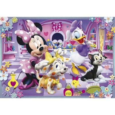 Puzzle Clementoni-24433 XXL-Teile - Minnie und Daisy mit ihren Tieren