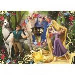 Puzzle  Clementoni-24436 XXL-Teile - Rapunzel und der Prinz