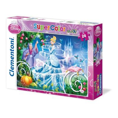 Clementoni-24449 Maxi Puzzle Disney Prinzessin