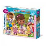 Clementoni-24452 Maxi Puzzle - Smiles and Hugs Doc McStuffins