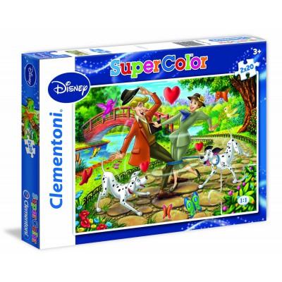 Clementoni-24729 2 Puzzles - 101 Dalmatiner