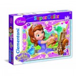 Clementoni-24730 2 Puzzles - Sofia the First