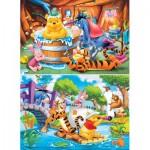 Clementoni-24742 2 Puzzles - Winnie