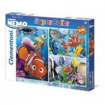 Clementoni-25190 3 Puzzles - Nemo