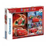 Clementoni-25197 3 Puzzles - Cars