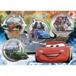 Puzzle  Clementoni-27857 Cars: Alle auf die Piste