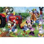 Puzzle  Clementoni-27859 Mickey und seine Freunde auf dem Bauernhof