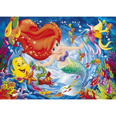 Puzzle Clementoni-27862 Die kleine Meerjungfrau