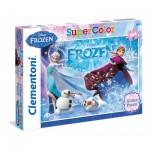 Clementoni-29712 Puzzle Glitter Eiskönigin