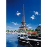 Puzzle  Clementoni-30302 Paris: Blick von der Seine auf den Eiffelturm
