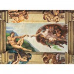 Puzzle  Clementoni-31402 Michelangelo: Die Erschaffung Adams