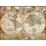 Puzzle  Clementoni-33531 Alte Weltkarte