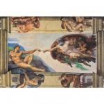 Puzzle  Clementoni-36513 Michelangelo: Erschaffung Adams